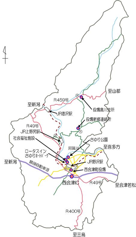 町内マップ - 西会津町公式ホームページ